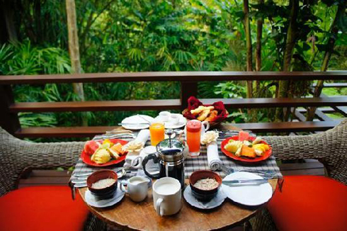 THE PURIST VILLAS AND SPA UBUD  BREAKFAST