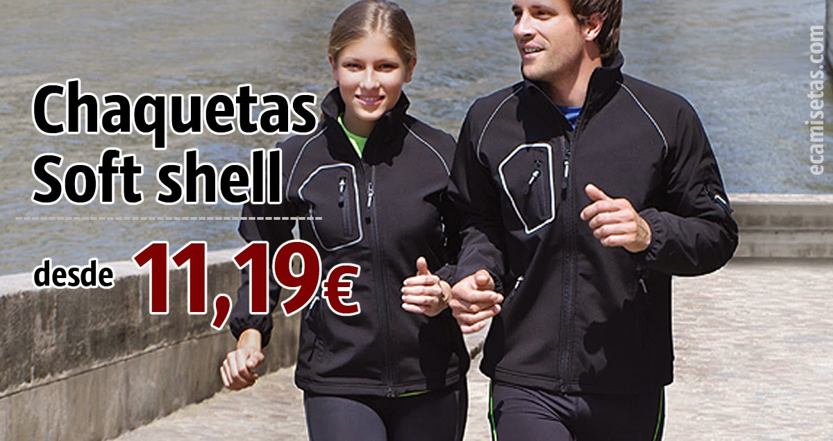 Chaquetas soft shell corporativas
