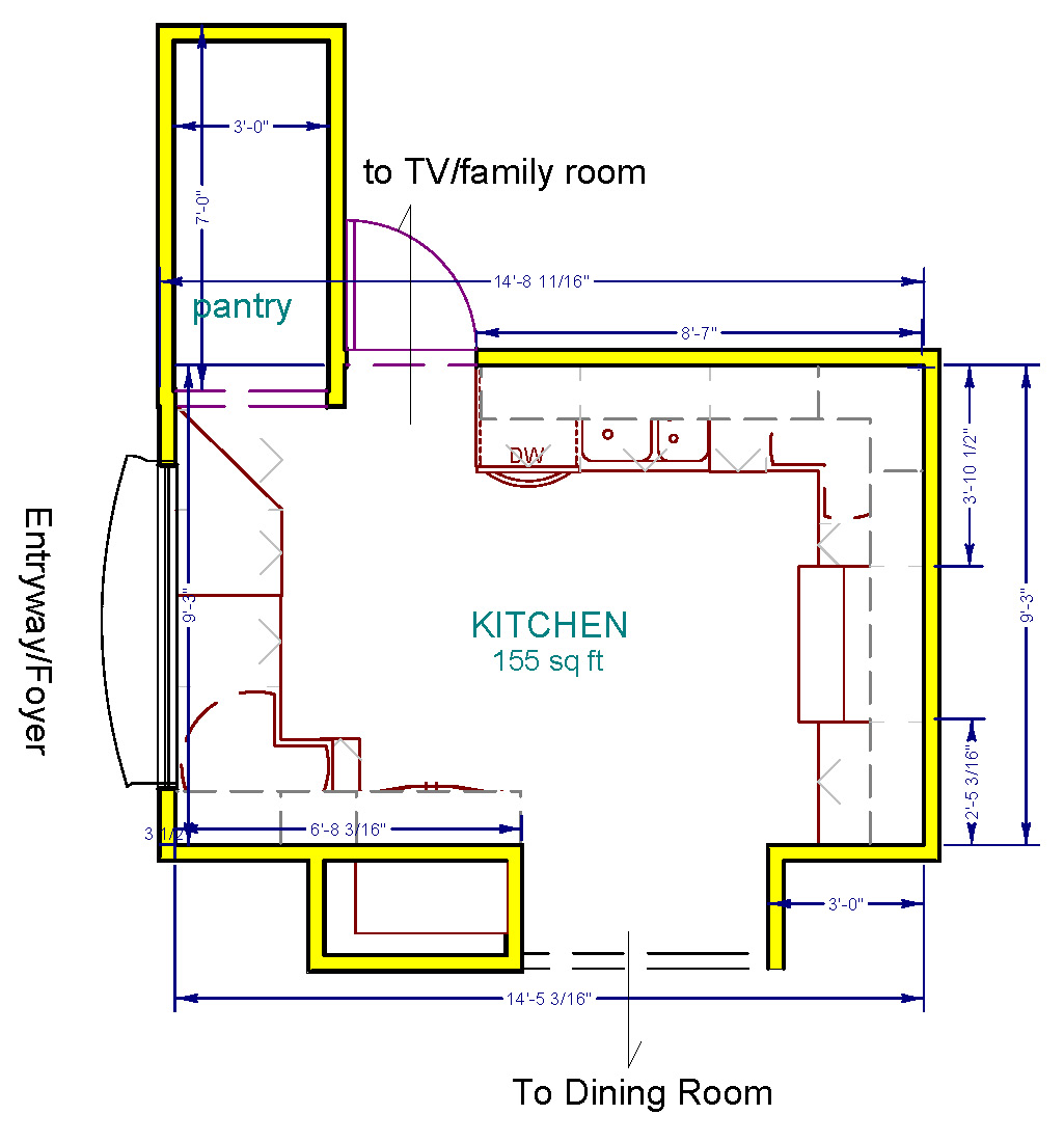 Kitchen Redesign Floor Plan