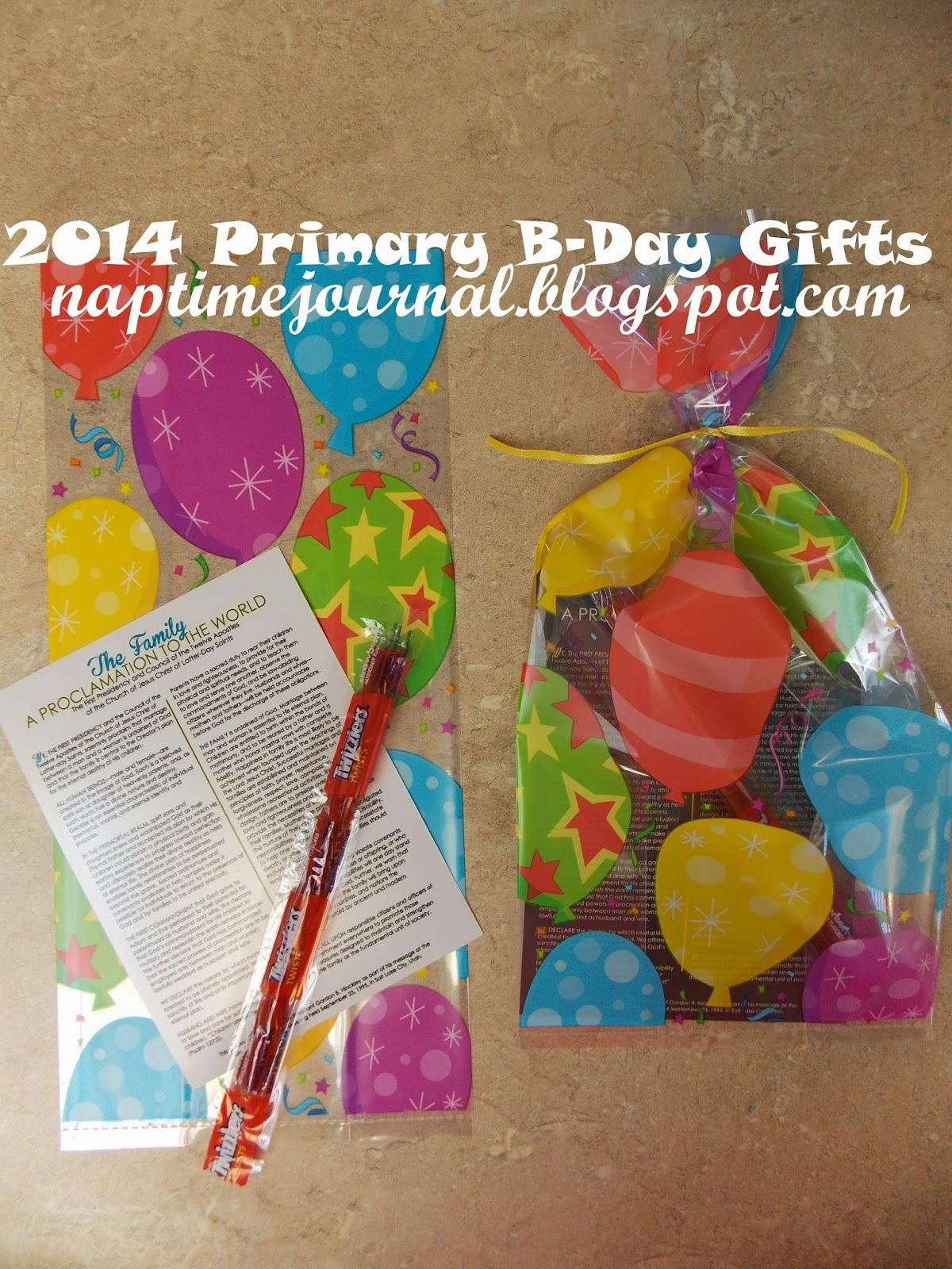 birthday lds primary ideas 2013 | just b.CAUSE