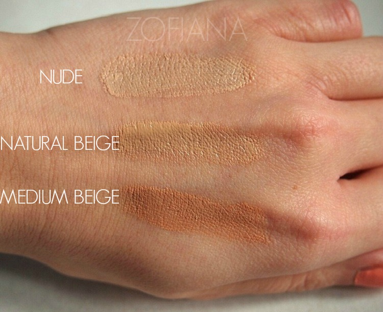 avon ideal shade podkład foundation swatch