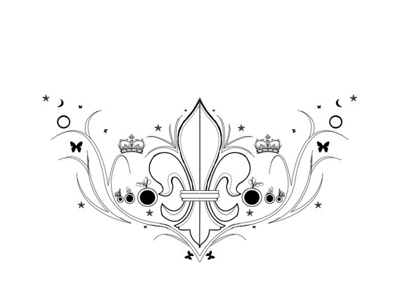 anchor tattoos designs fleur de lis tattoos designs and. Black Bedroom Furniture Sets. Home Design Ideas