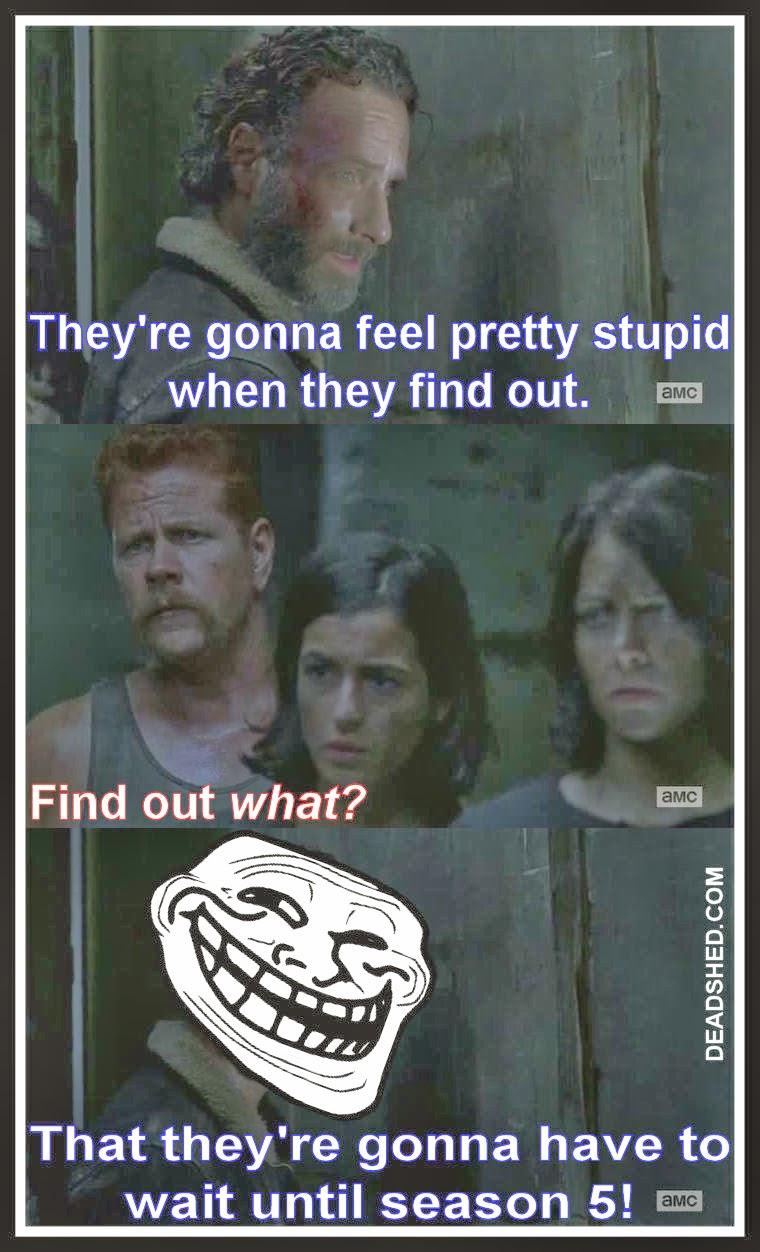 Walking Dead Meme Season 4 Carol DeadShed Produc...