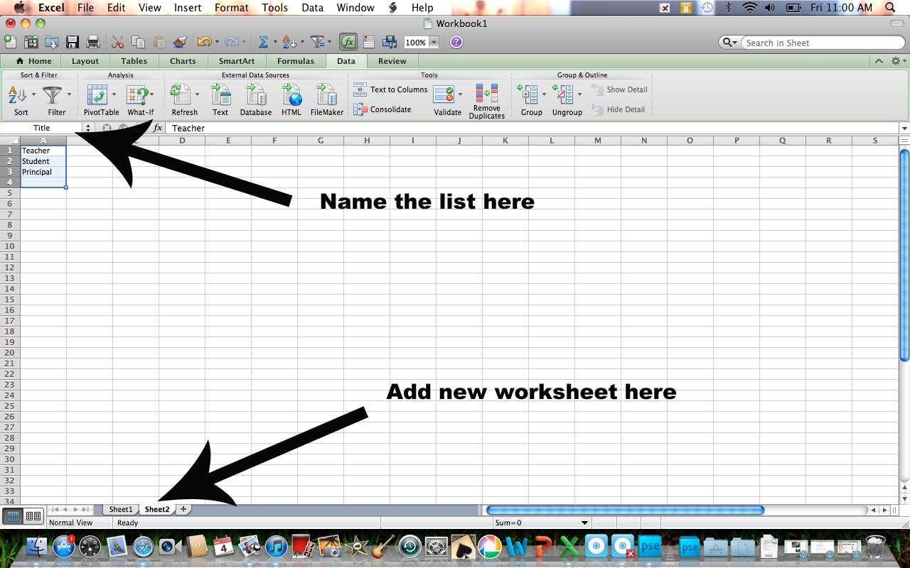 how to create drop down in excel sheet