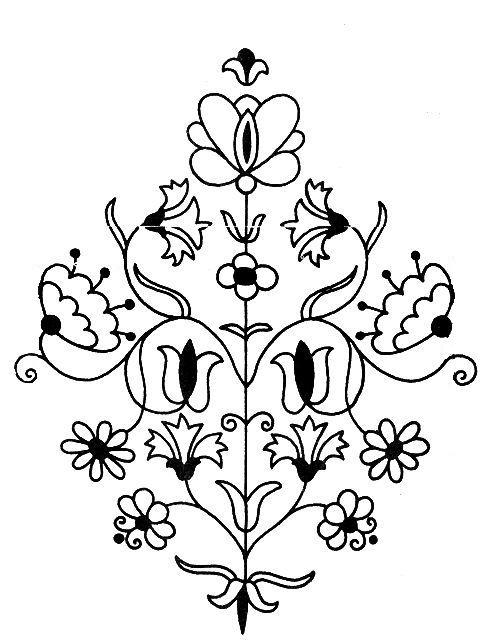 Рисунки для вышивки блузок.