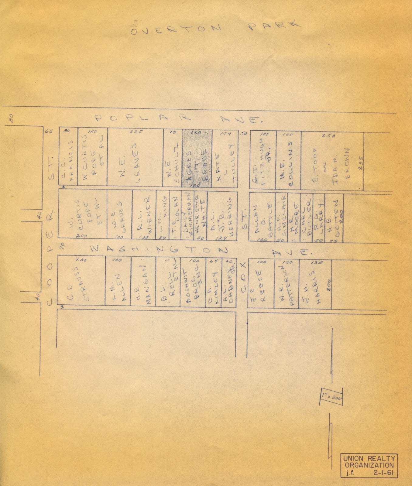 this map shows the subject site and its proximity to the neighbors you will note that ms daisy zimmerman still lived on washington ave in 1961