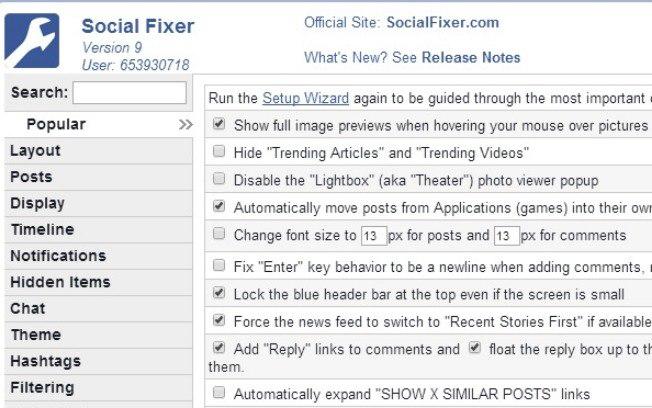 Extensão Social Fixer traz dezenas de ajustes para o Facebook