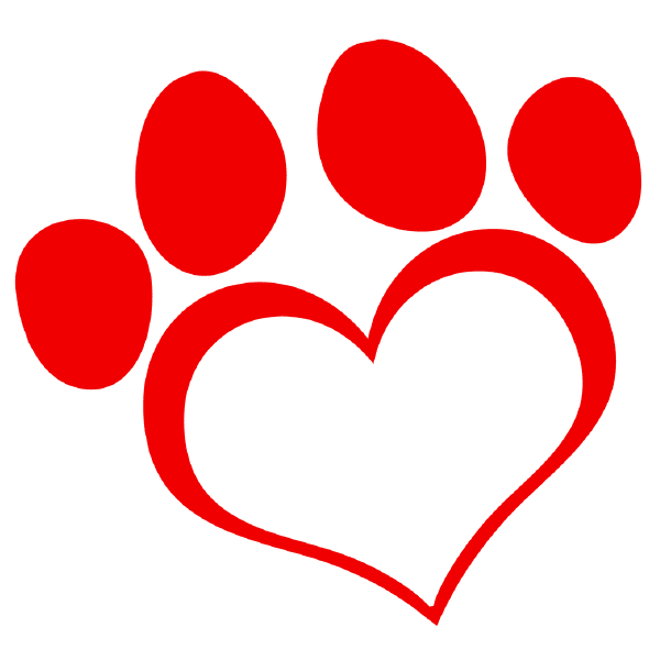 Heart Paw Print Image