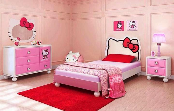 Ideas para decorar habitaciones de ni as con hello kitty - Camas infantiles blancas ...