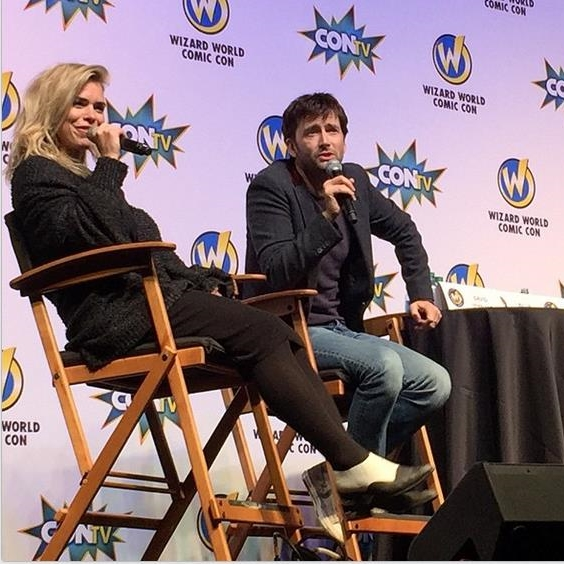 David Tennant and Billie Piper at Wizard World Comic Con Philadelphia - 9th May 2015