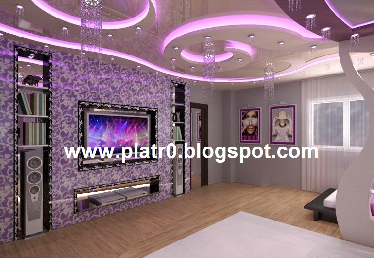 D coration platre salon 2017 for Decoration platre salon