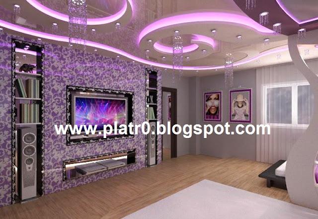 2016, Deco Maison plus belle Plafond Platre Led 2016, Platre Moderne
