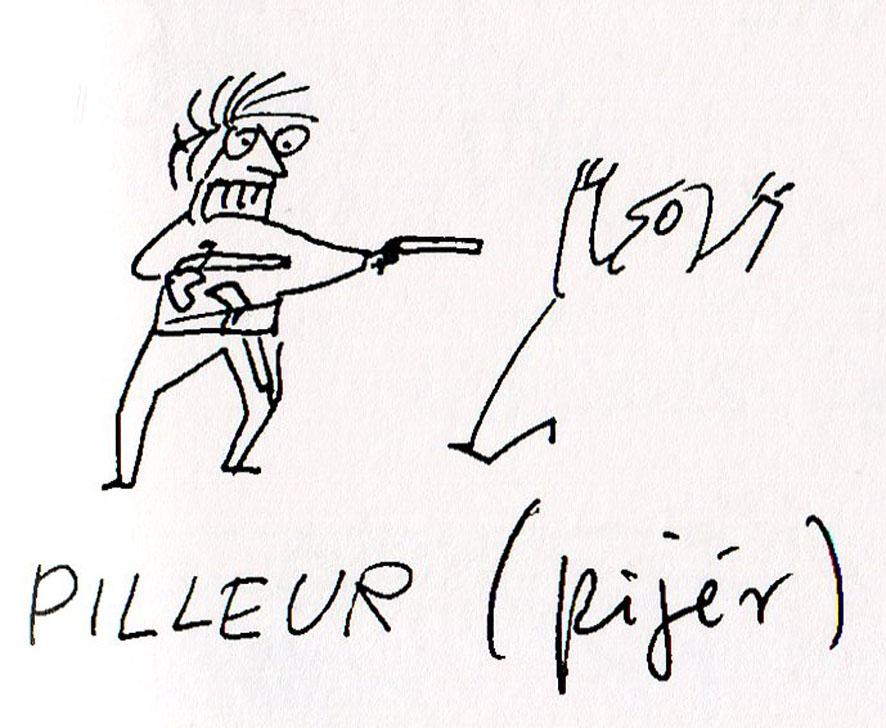 Populaire Larousse, Liaudet, lithographie: Son cahier de (français) dessin FU01