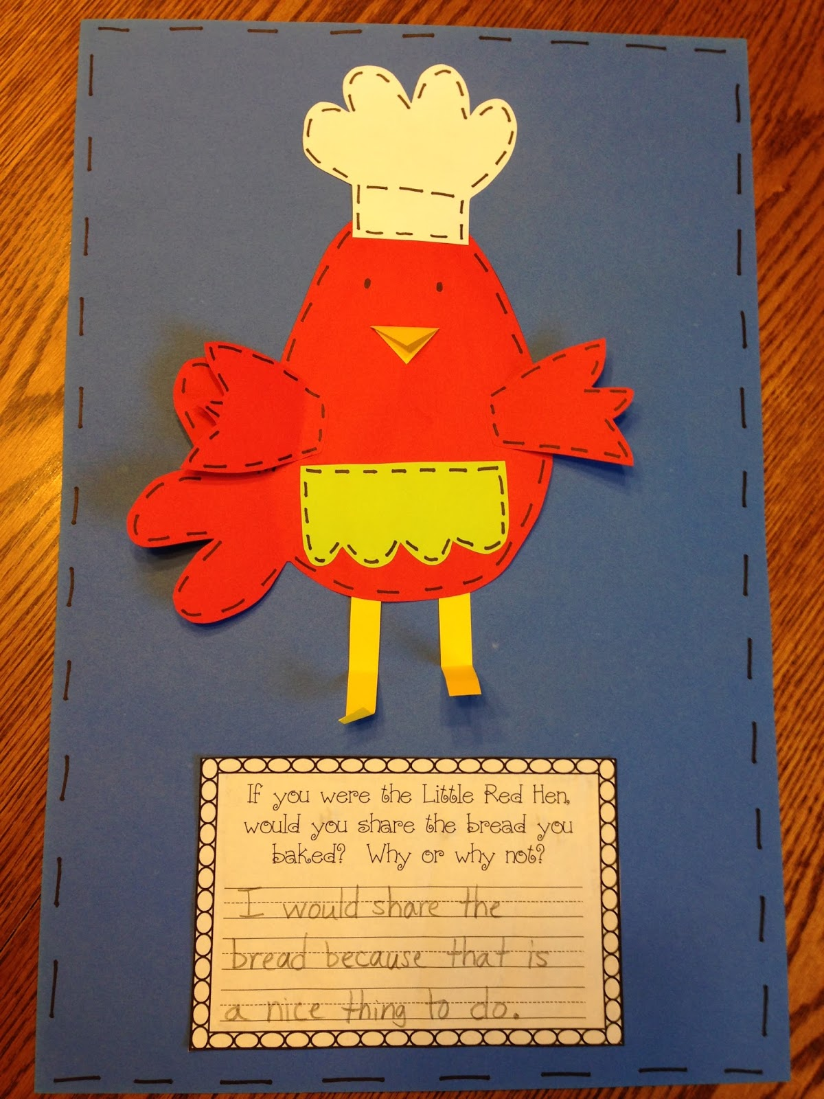 Retell Literacy Center Activity – The Little Red Hen