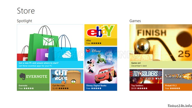Windows 8 Apps Store