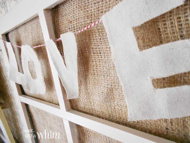 Drop Cloth and Baker's Twine Love Garland from Denise on a Whim
