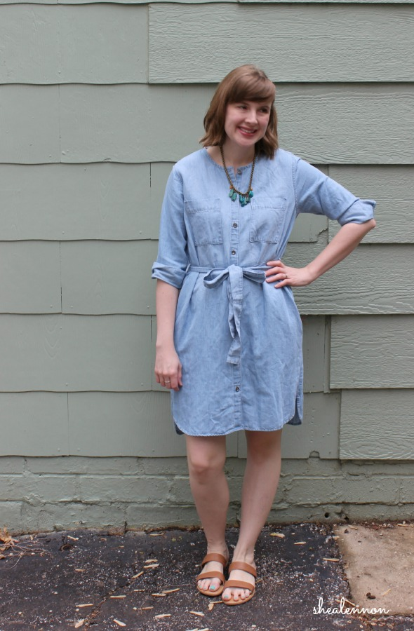 chambray shirtdress simple for spring | www.shealennon.com