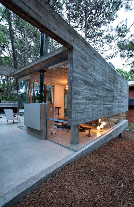 Casa de cemento for Comedor y cocina en un mismo ambiente