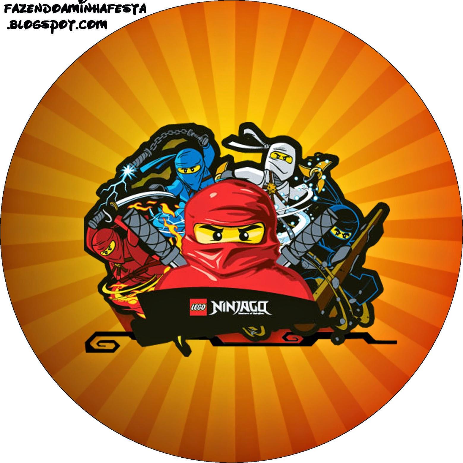 Toppers o etiquetas de Ninjago para imprimir gratis.