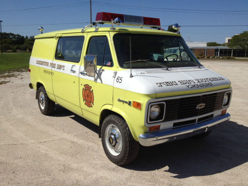 Daily Turismo: 5k: 1974 Chevy G30 Fire Chief\'s Van, 8k Original Miles