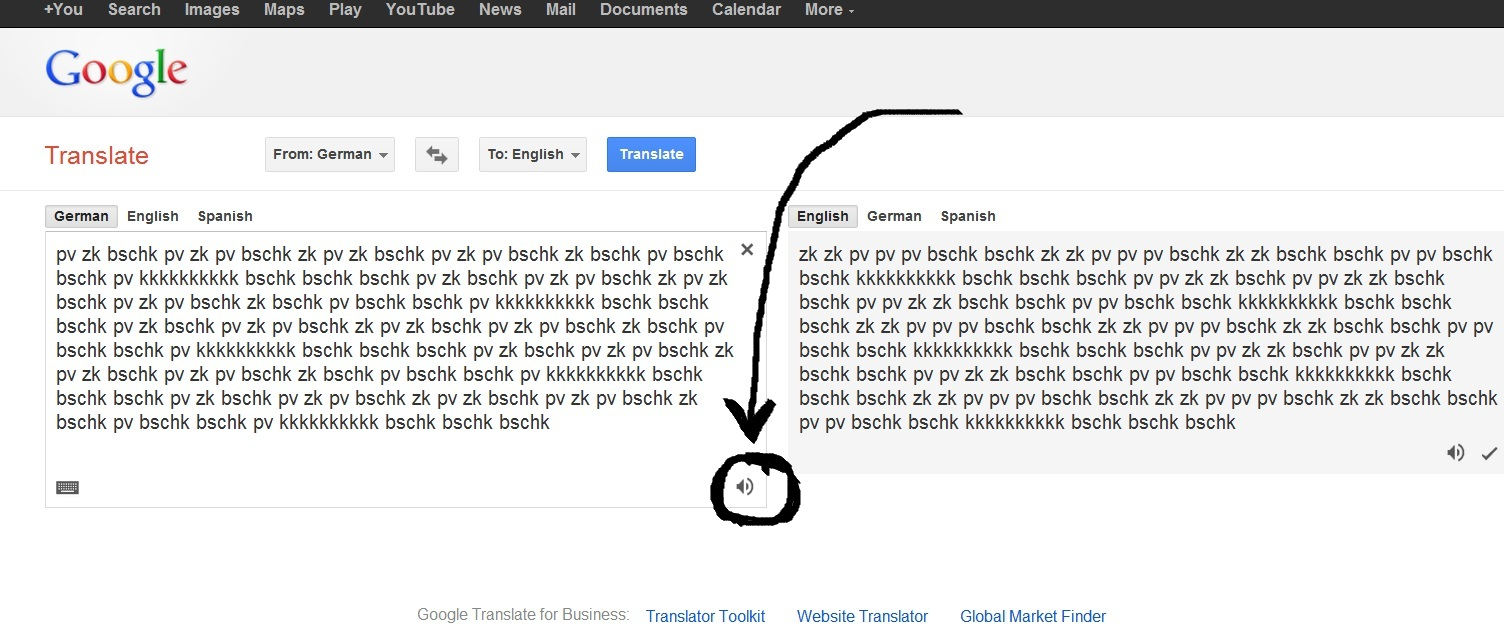 Google translate beatbox text