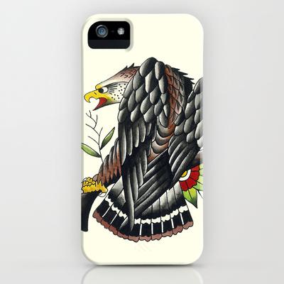 sebastian orth - traditional tattoo style eagle iphone