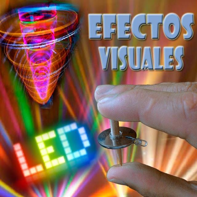 Efectos visuales iluminación electrónica en casa