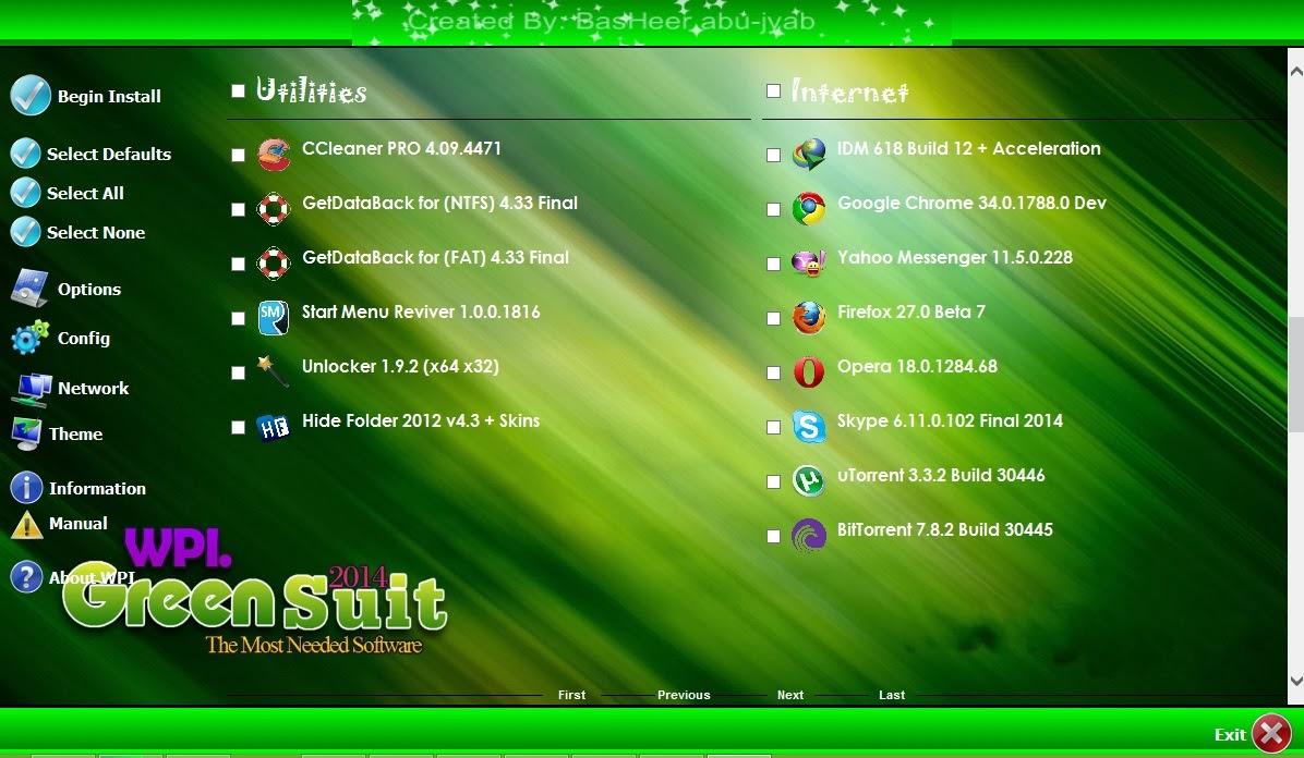 اسطوانة البرامج الذكية والرائعة WPI Green Suit 2014 حصريا تحميل مباشر WPI+Green+Suit+2014+3