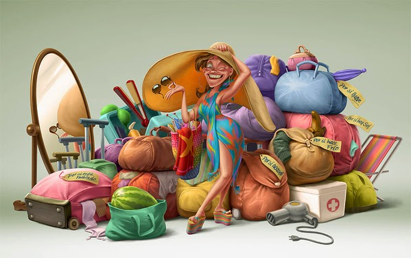 Oscar Ramos Family Chery Character Design and Illustration