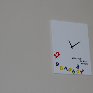 Whatever Clock in living Room