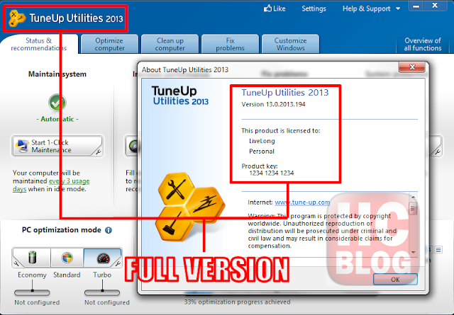 Download Tune Up Utilities 2013 Full Version + Crack