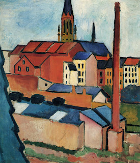 macke-St.+Mary's+with+Houses+and+Chimney