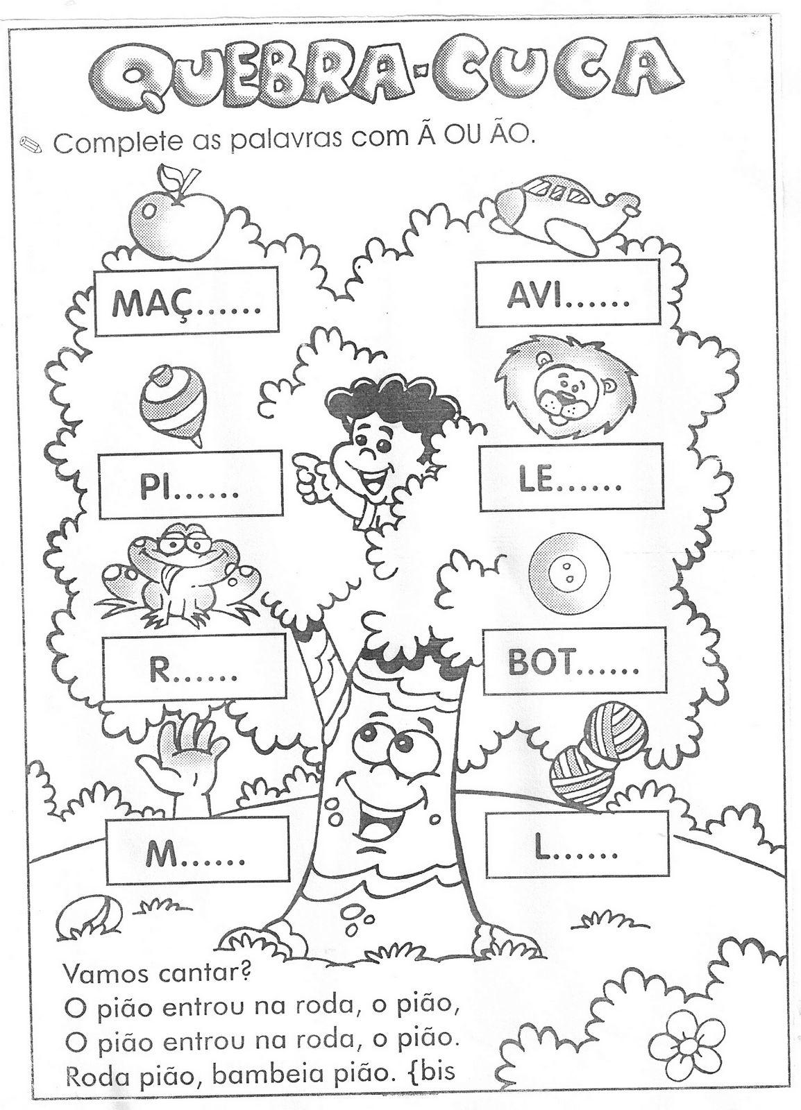 Preferência Atividades Para Alfabetizar | Cantinho do Educador Infantil BU69
