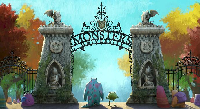 Monsters University concept art