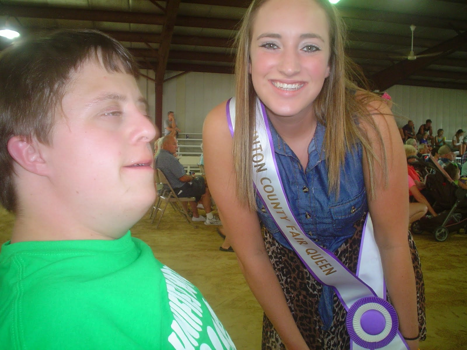 Alec with Marie-the Clinton County Fair Queen