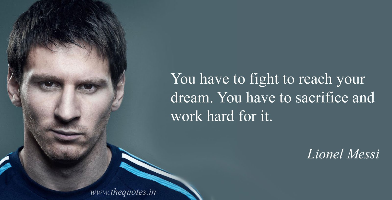 Inspirational Football Quotes By Famous Footballer Like Messi ,Ronaldinho ,  Ronaldo More.