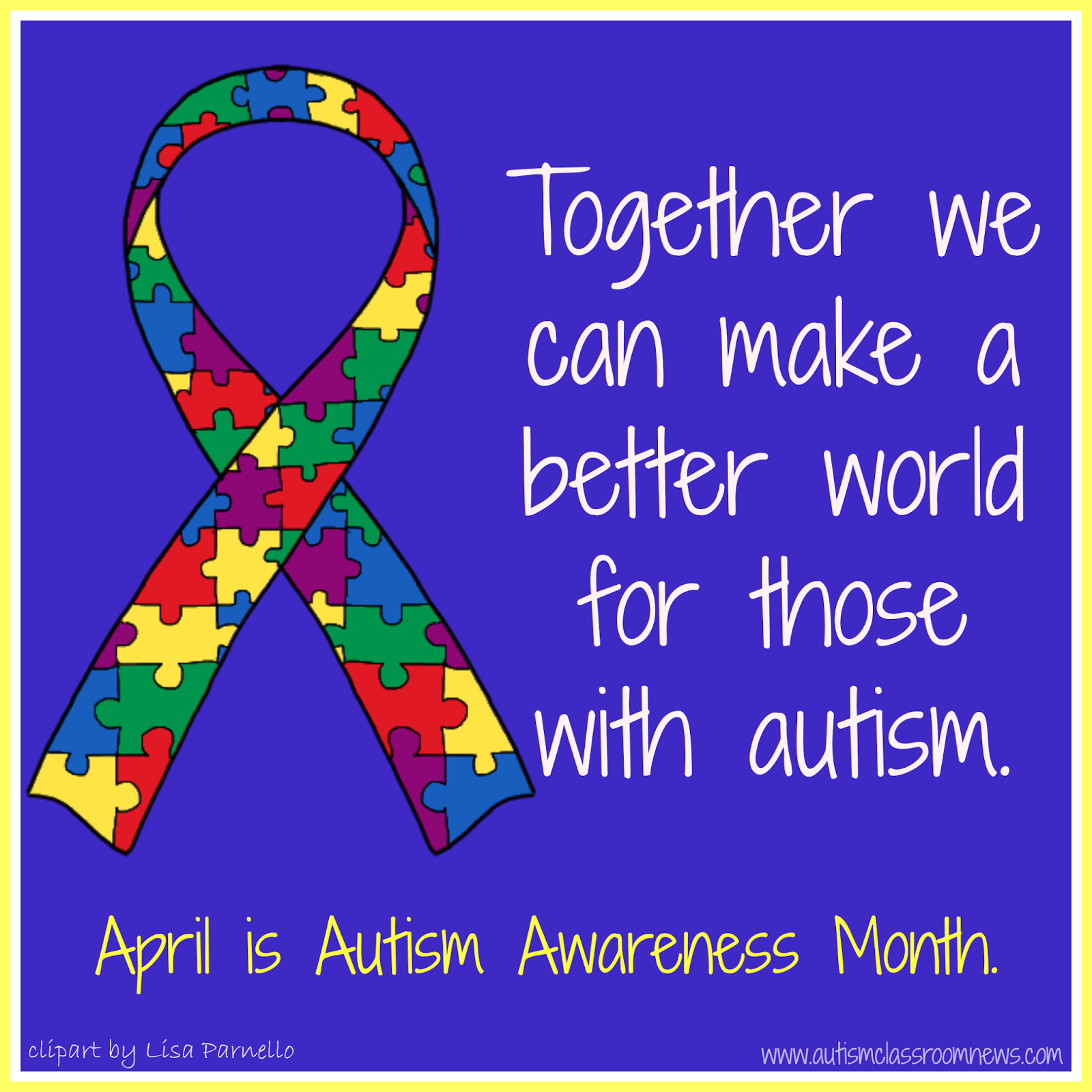 Autism Awareness Day And April S Currently Breezy Special Ed