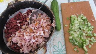 все что нужно для салата с красной фасолью
