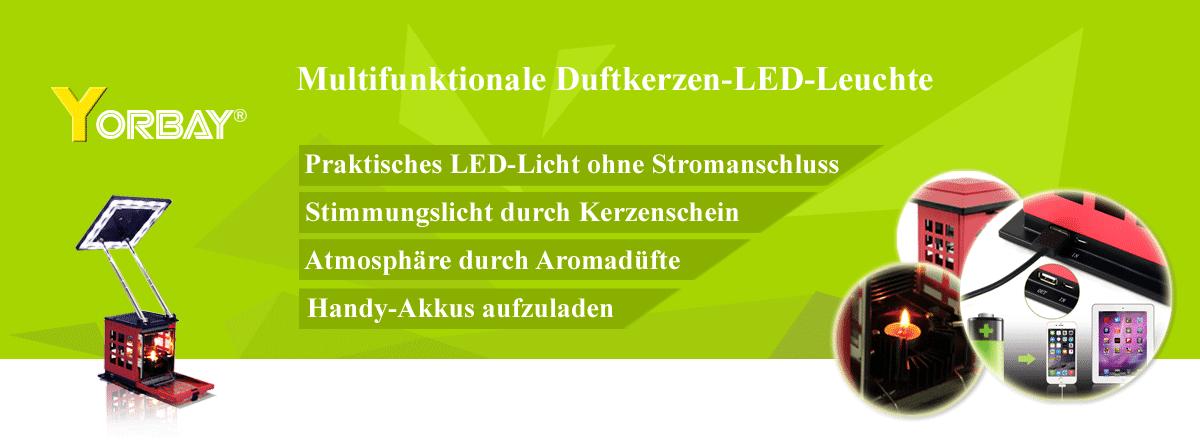 Multifunktionale Duftkerzen LED Leuchte Erzeugt Strom Selbst
