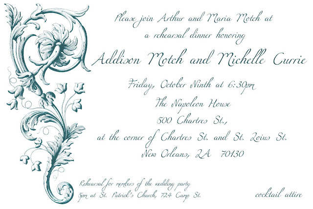 wedding card the rehearsal dinner invites I created for my brother 39s