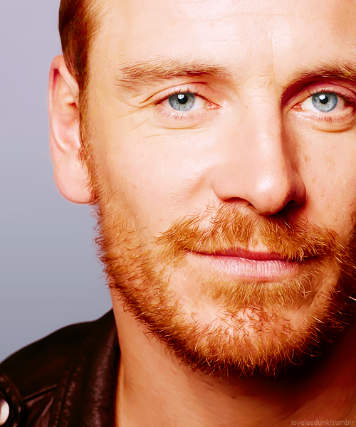 Fassbender has gorgeous eyes