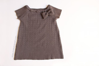 little girls dress from sweater