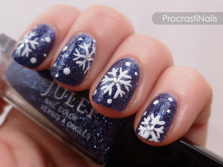 The 12 Days Of Christmas Nail Art Dec 3rd Let It Snow Let It