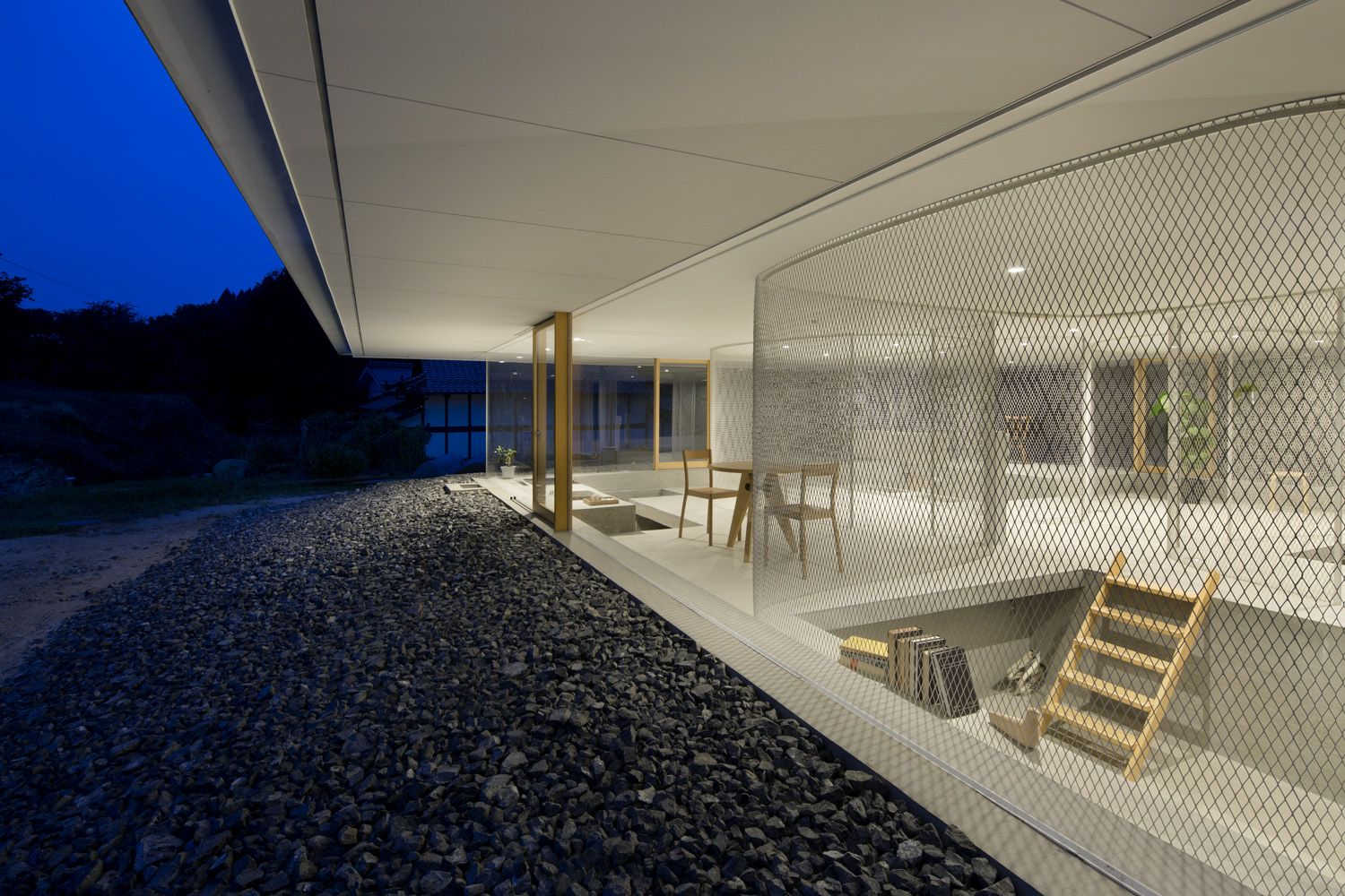 suppose design office toshiyuki. The Concept Of This Project Is To Suspend A Thin Cover On Natural Hill, Equip It With Furniture And In Way Create Place Where People Animals Suppose Design Office Toshiyuki