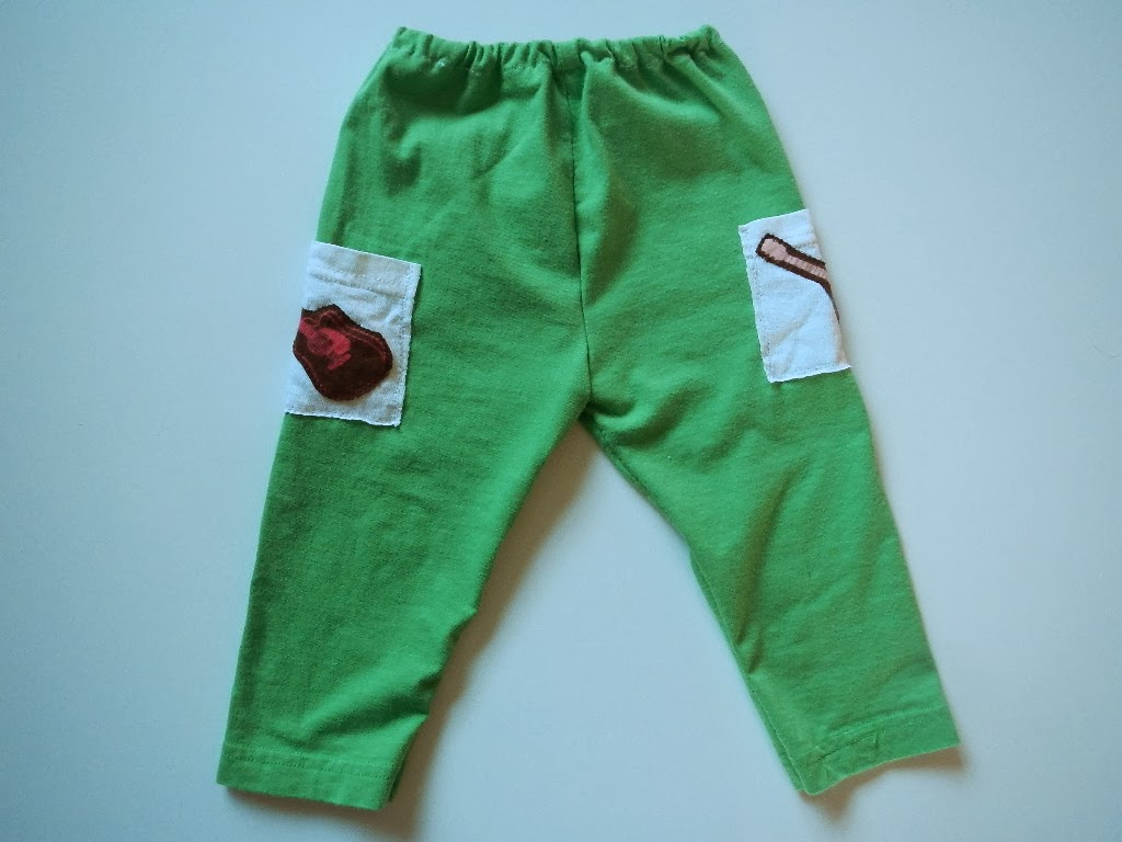 how to sew a pair of baby toddler pants from a tshirt sweater