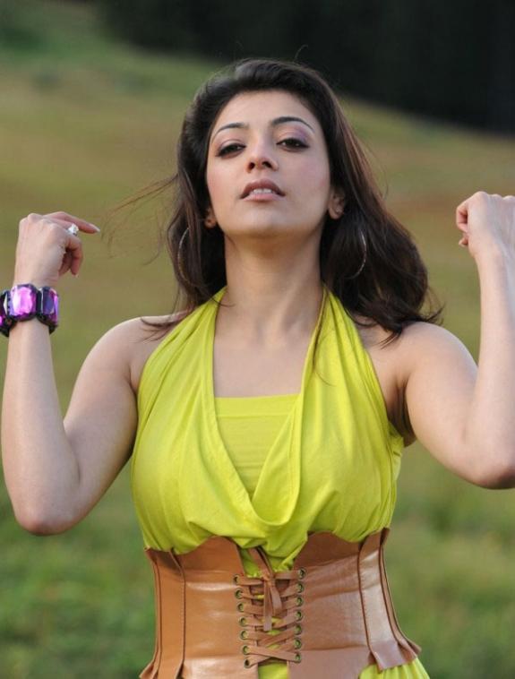 Spicy Kajal Agarwal In Hot Mood Yellow Dress Latest Stills Photos hot photos