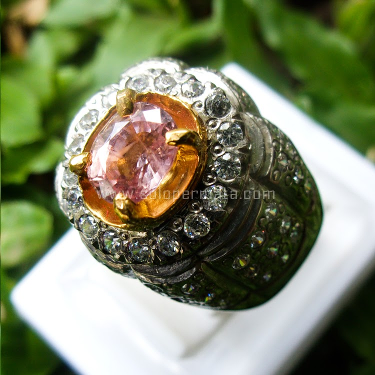 Cincin Batu Permata Pink Sapphire - Sp536 + MEMO