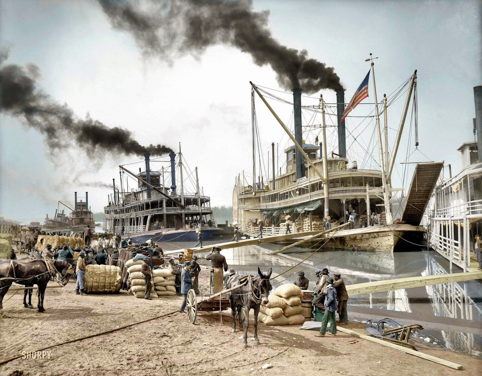 Ultimate Collection Of Rare Historical Photos. A Big Piece Of History (200 Pictures) - Steamboats in the Mississippi