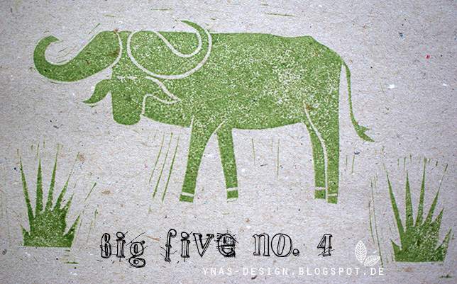 Ynas Design Blog, Stempel, Afrika, Big Five