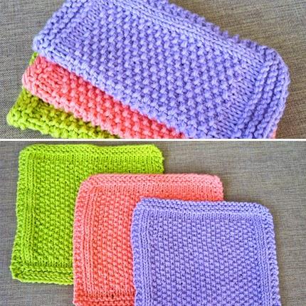Seed Stitch Dishcloth Pattern